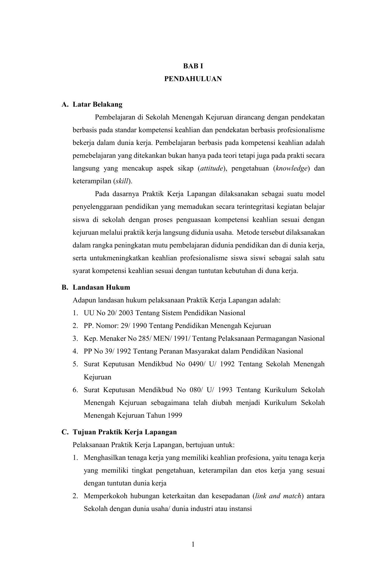 Contoh Latar Belakang Masalah Laporan Pkl Tkj Kumpulan Contoh Laporan
