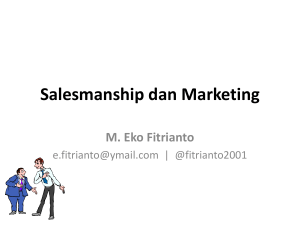 Salesmanship dan Marketing