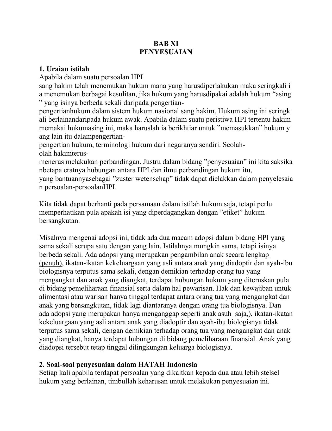 Hukum Perdata Internasional Pertemuan 11