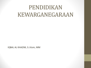pendidikan kewarganegaraan - Official Site of IQBAL AL KHAZIM