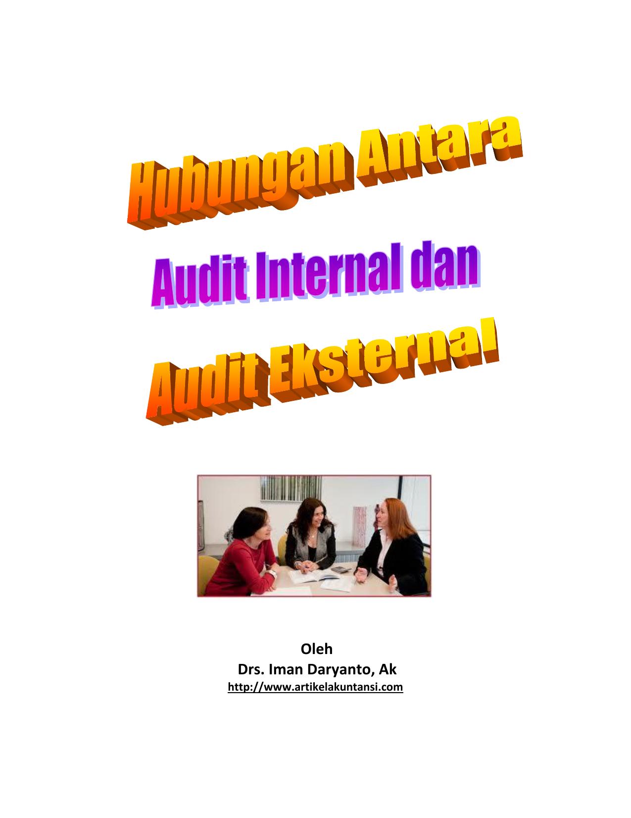 Hubungan Antara Internal Dan Eksternal Audit