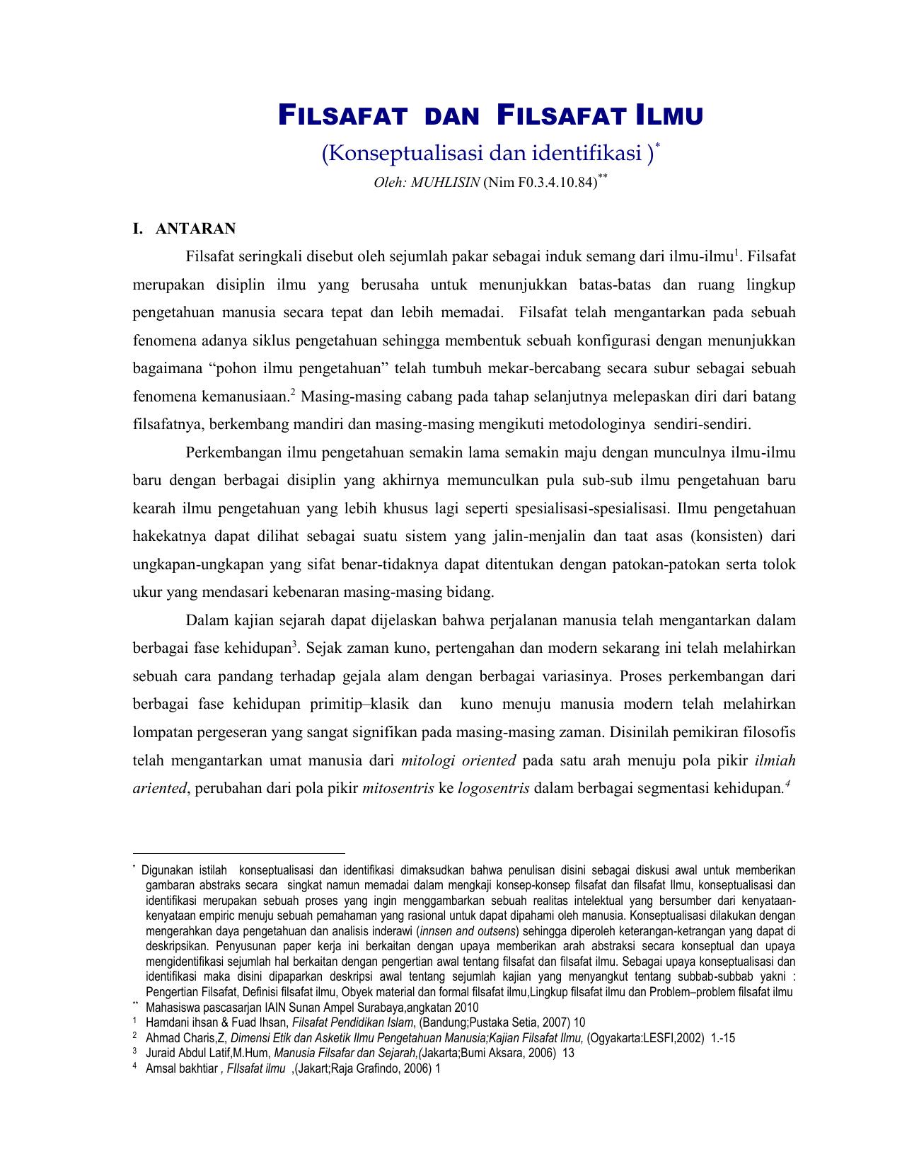 Metode Ilmiah Dalam Filsafat Ilmu Ebook