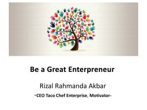 SEMINAR_2016_Be a Great Enterpreneur