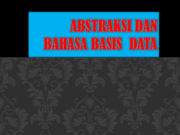 Abstraksi Data - E-learning UPN JATIM