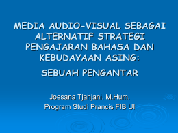 media audio-visual sebagai alternatif strategi