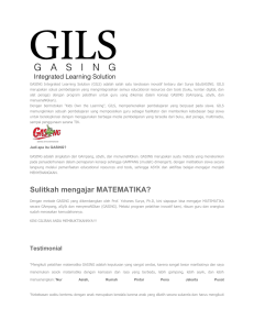 GASING Integrated Learning Solution (GILS) adalah salah satu
