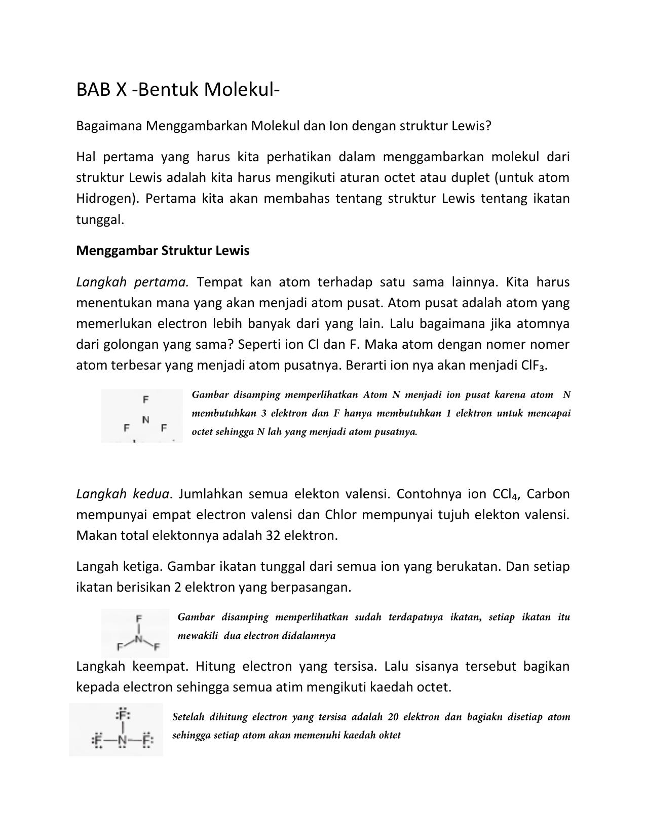 Bentuk Molekul Dan Gaya Antar Molekul Ppt - Berbagi Bentuk ...