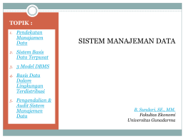 SISTEM MANAJEMAN DATA