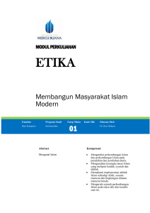 Modul Agama [TM1] - Universitas Mercu Buana