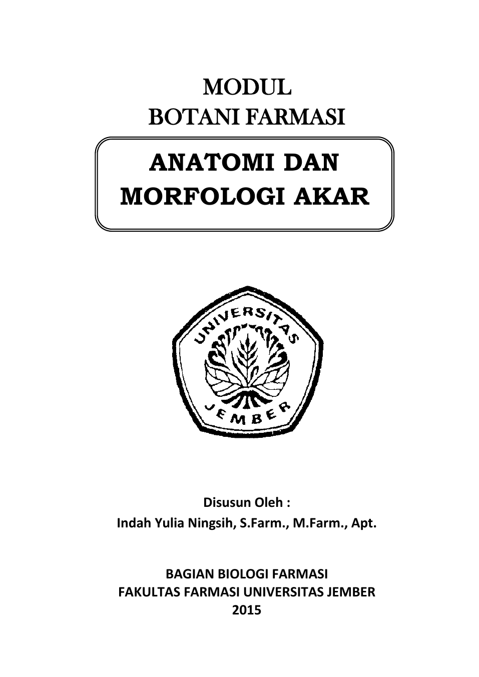Anatomi Dan Morfologi Akar Digital Repository Universitas Jember