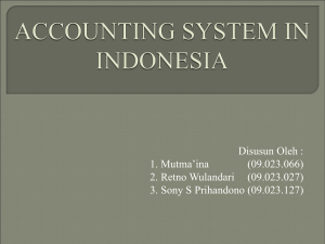 accounting system in indonesia
