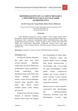 Indonesian Journal of Chemical Research – Indo.J