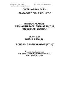 singapore bible college release