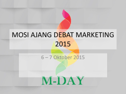 MOSI AJANG DEBAT MARKETING 2015