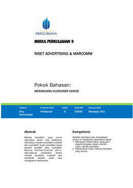 Modul Riset Advertising dan Marcomm [TM10]