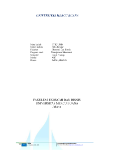 MOD 013 - Universitas Mercu Buana