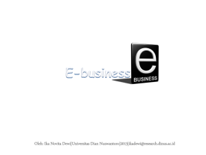 E-business Oleh - Universitas Dian Nuswantoro