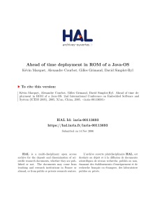 Ahead of time deployment in ROM of a Java-OS - HAL