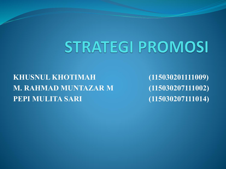Strategi Promosi Ppt