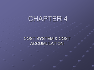 Cost System and Cost Accumulation - E