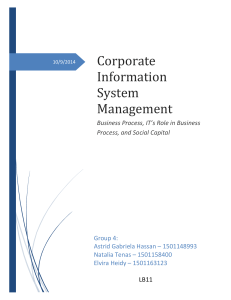 Corporate Information System Management - treis