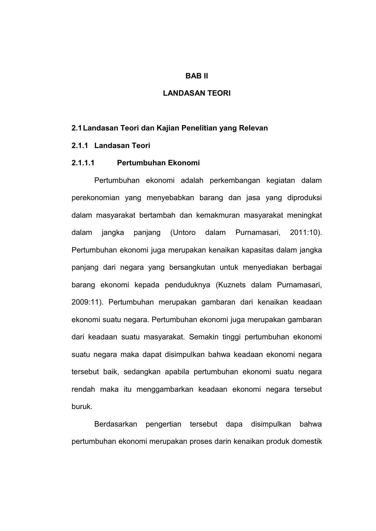 Bab Ii Landasan Teori 2 1 Landasan Teori Dan Kajian Penelitian