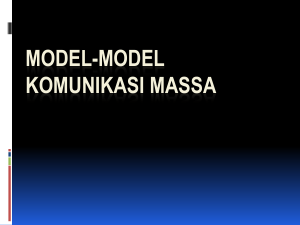 Model2 Komunikasi massa