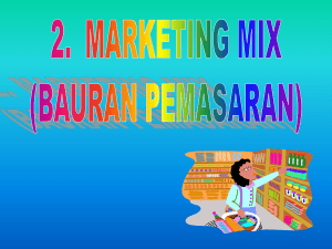 Marketing Mix - FE UIN Malang