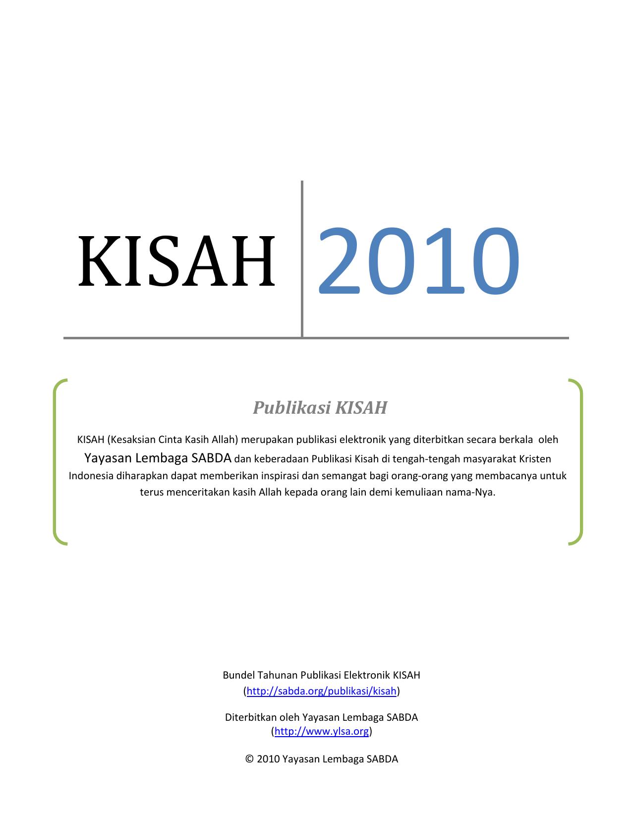 Publikasi KISAH SABDA