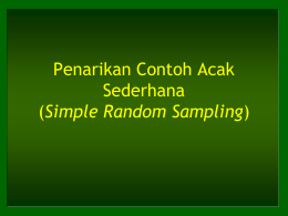 Penarikan Contoh Acak Sederhana (Simple Random Sampling)