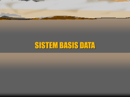 sistem basis data dan sistem berorientasi objek
