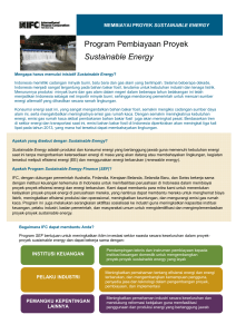 Program Pembiayaan Proyek Sustainable Energy