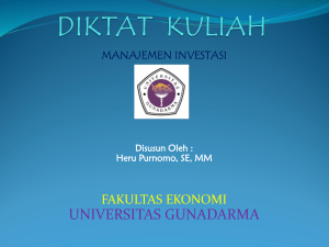 P E N D A H U L U A N - Official Site of HERU PURNOMO, SE, MM