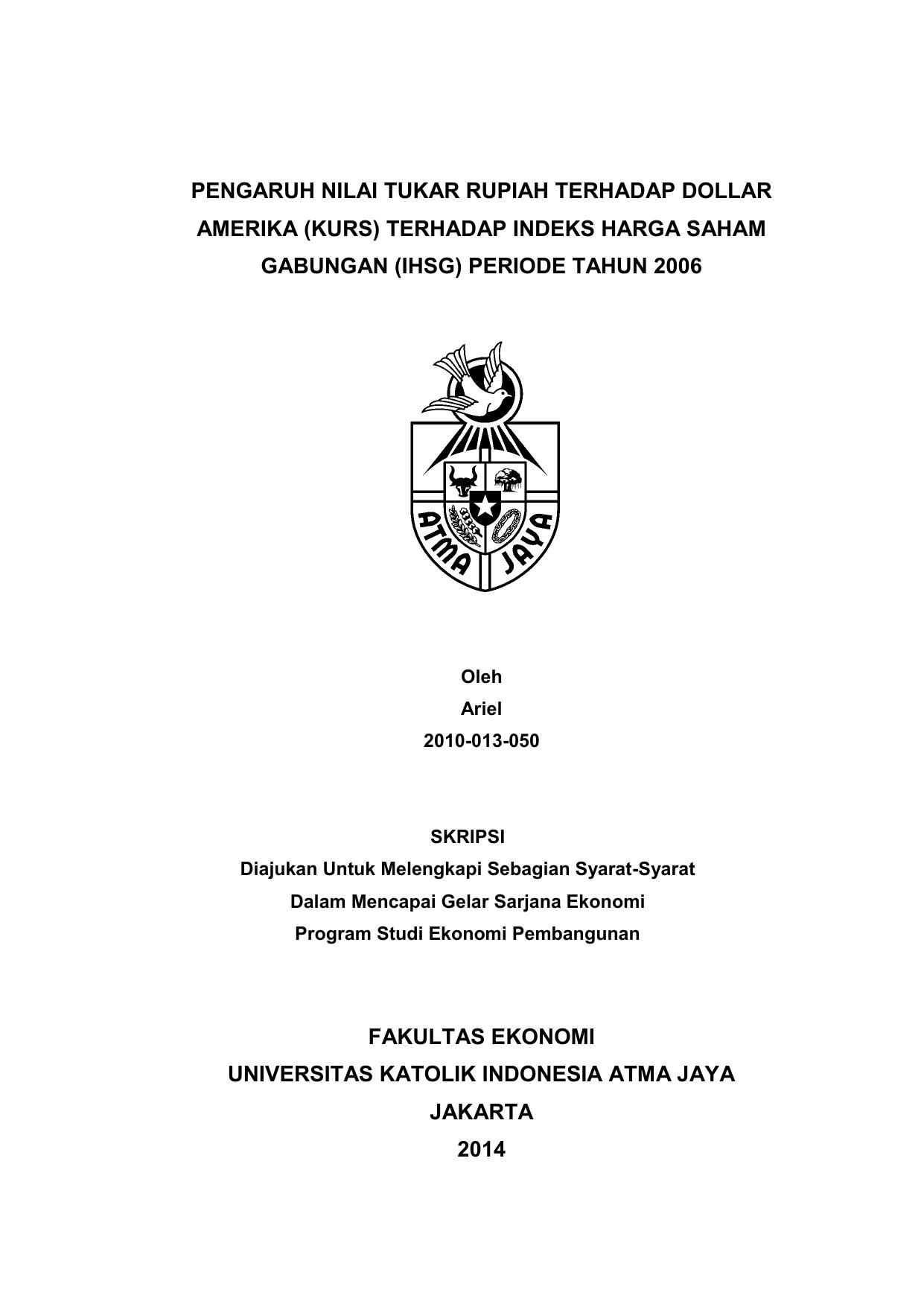 Cover Skripsi Khusus Prodi Ekonomi Pembangunan