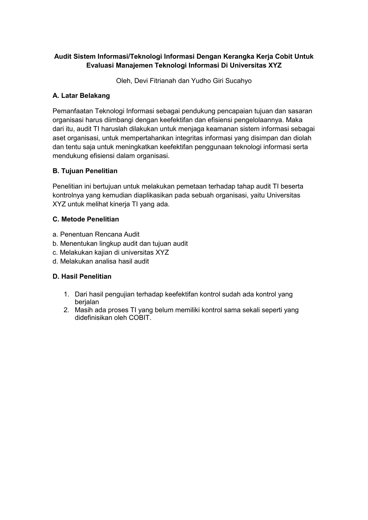 Ai C 13 Izza Zakiatul Ulya Review Jurnal Audit Sistem