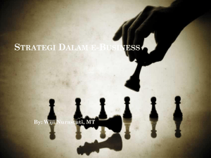 Strategi dalam e-business - E