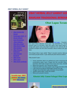 OBAT HERBAL JELLY GAMAT,lupus