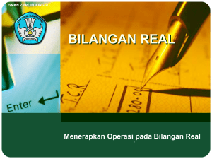 bilangan real bilingual