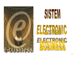 sistem electronic business