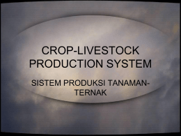 crop-livestock production system