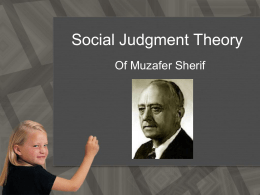 Social Judgment Theory