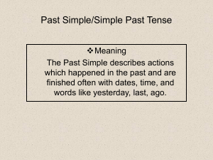 past-simplesimple-past-tense