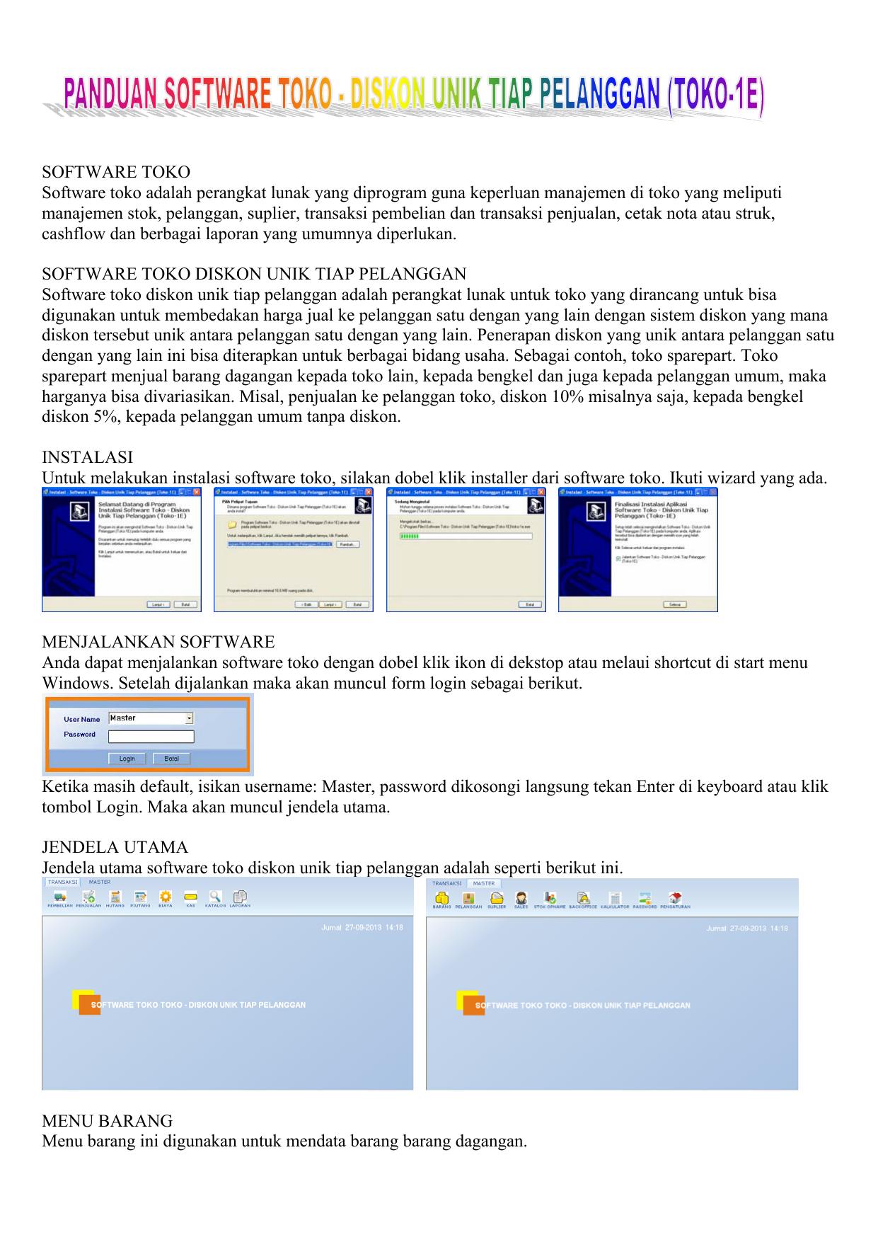 Software Toko Software Toko Adalah Perangkat Lunak Yang