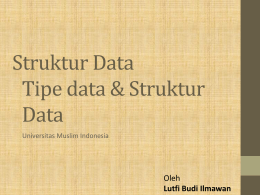 Struktur Data 2 - Universitas Muslim Indonesia