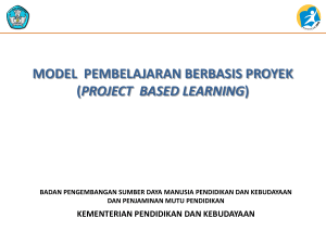 Project Based Learning - Sch