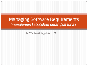 Managing Software Requirements (manajemen