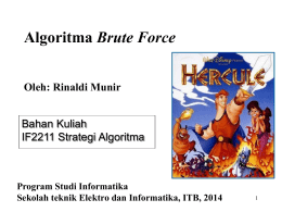 Algoritma Brute Force (2014)