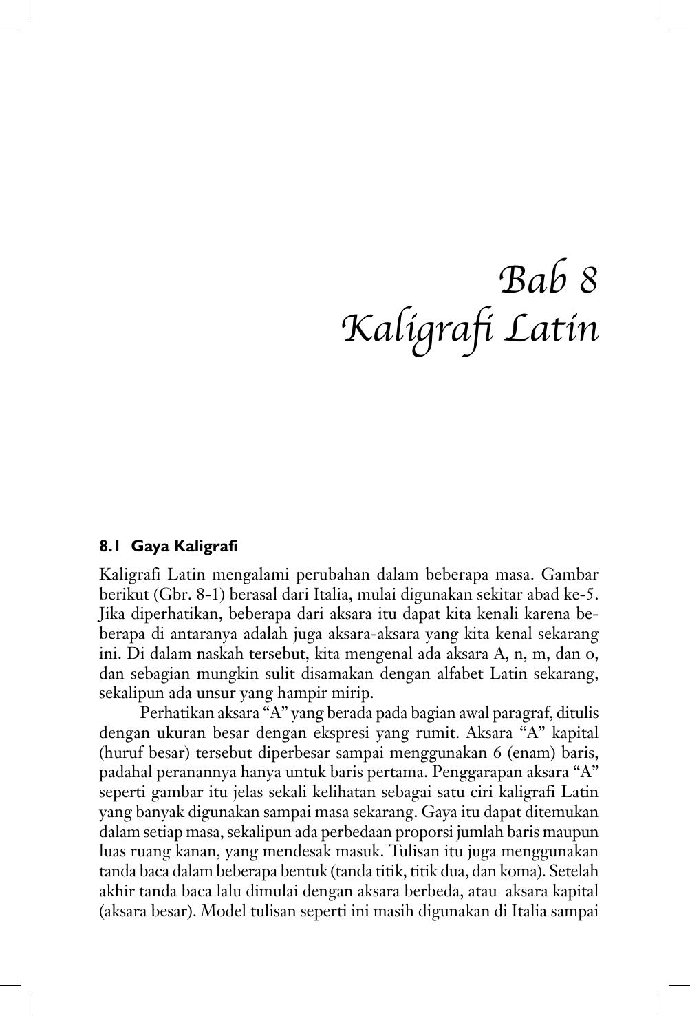 Kaligrafi Bab 8