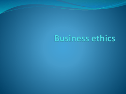 kuliah Business ethics