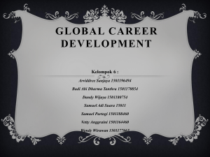 GLOBAL CAReer development Kelompok 6 - dandy